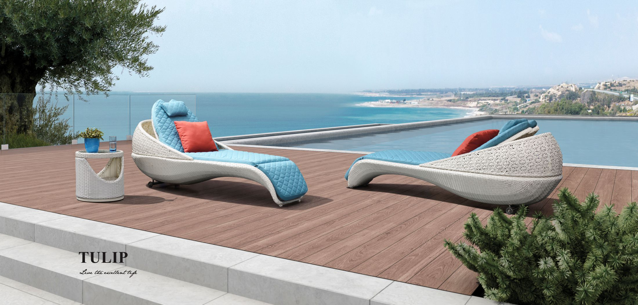 Tulip Chaise Lounger 203050